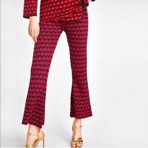 ZARA • diamond jacquard knit pants • NWT